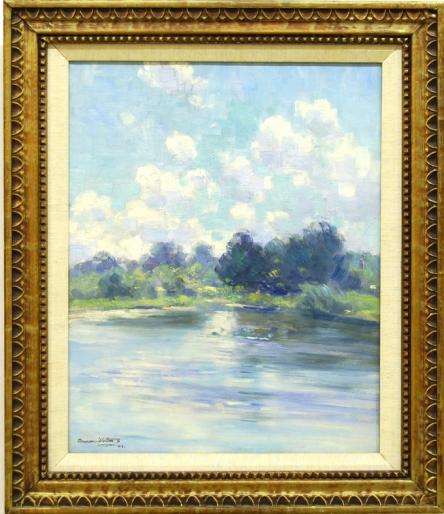Landscape painting by Dawson Dawson-Watson